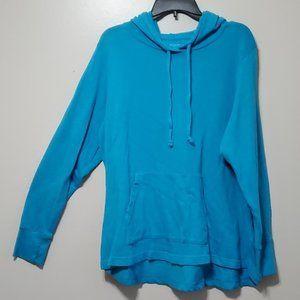 Tek Gear DryTek Aqua Blue Terry Cloth Hoodie 2X